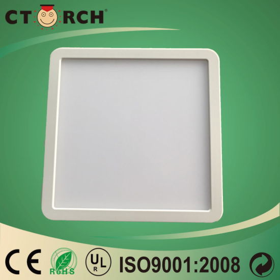 2017 Plastic Surface Round&Square Panel Light 6W 18W pictures & photos
