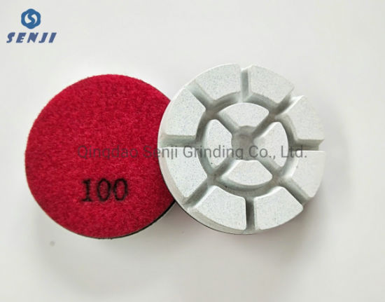 High Quality White Resin Wet and Dry Floor Polishing Pad Grinding Wheel for Stone and Concrete