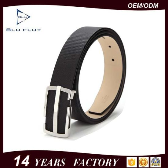 Factory Wholesale Hot Sale Pin Buckle Men′s PU Leather Belts pictures & photos