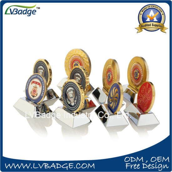 China Customized Gold Metal Coins with Diamond Edges - China