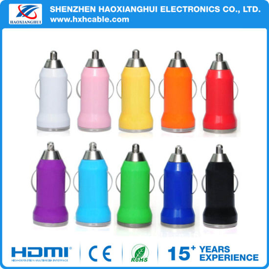 Wholesale Colorful Dual USB Car Charger for iPhone pictures & photos