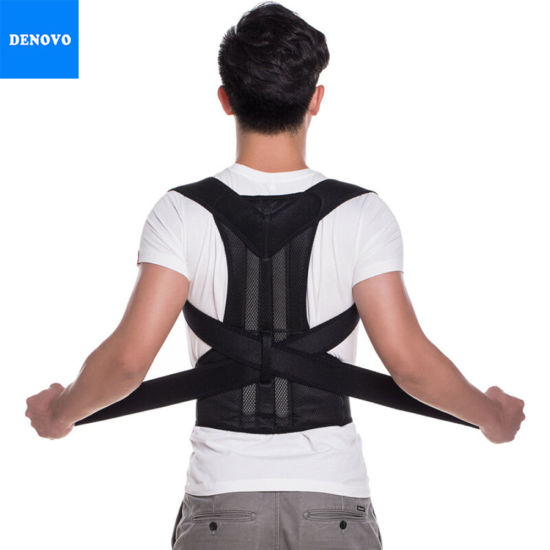 New Back Support Brace with Double Pull Strap for Posture Correction