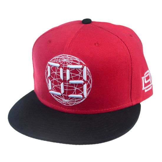 de3206ac4319a Customized High Quality Red Hat and Embroidery Snapback Cap Hat′s for Party  for New Year
