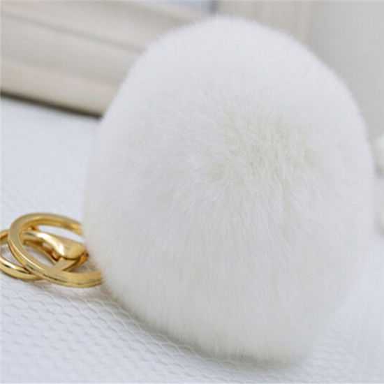 White Christmas Rex Rabbit Fur Balls pictures & photos