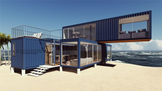 3X40FT Modular Prefab/ Prefabricated Portable Shipping Container House for Holiday pictures & photos