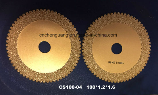 Sharp Vacuum Brazed Diamond Saw Blade for Steel and Metal Cutting Disc pictures & photos