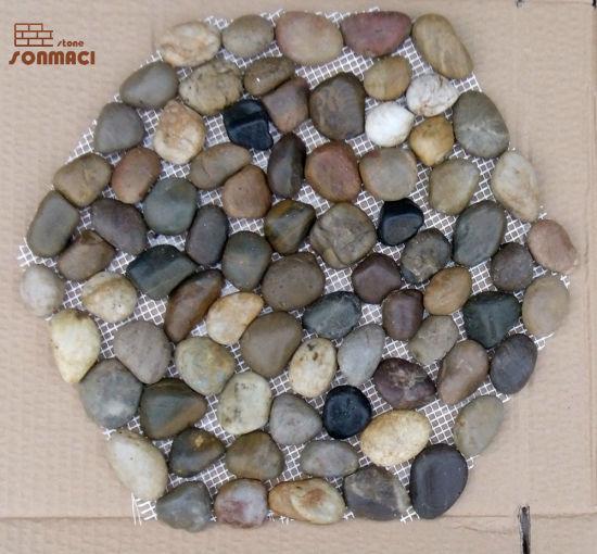 Decorative Garden Floor Paving River Pebbles Stone