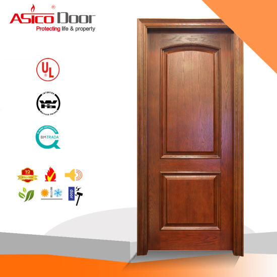 China Timber Doors Wood Veneer Door Solid Wood Door China