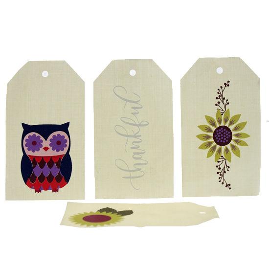 Professional Cartoon Silk Screen Printing Cloth Hang Tag for Garment
