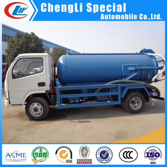 China 5ton Sewer Suction Scavenger Tank 5000L Septic Tank