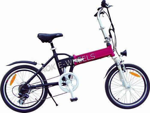 Folding Light Lithium Battery E-Bike with LED Headlight (TDE-039B)