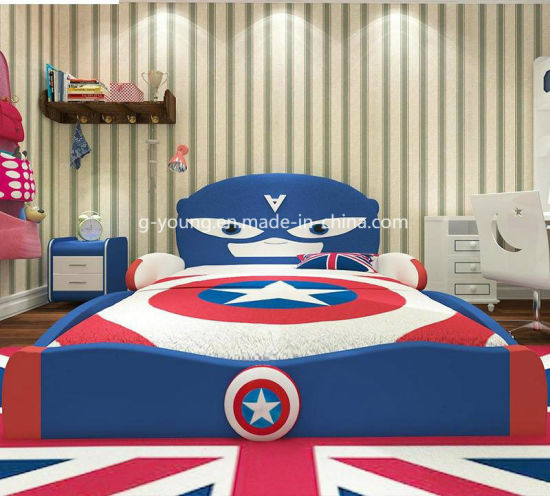 Customized Cartoon Style Children Furniture Bed