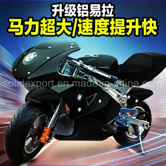 2018 New Fashion 49cc 2 Stroke Super Pocket Motorcycle Bike