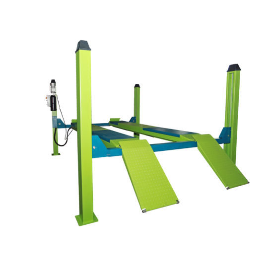5 Tons Hydraulic Four Post Auto Vehicle Car Lift for Alignment