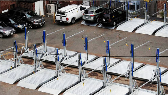 High Quality Double Column Parking Lifter with Ce