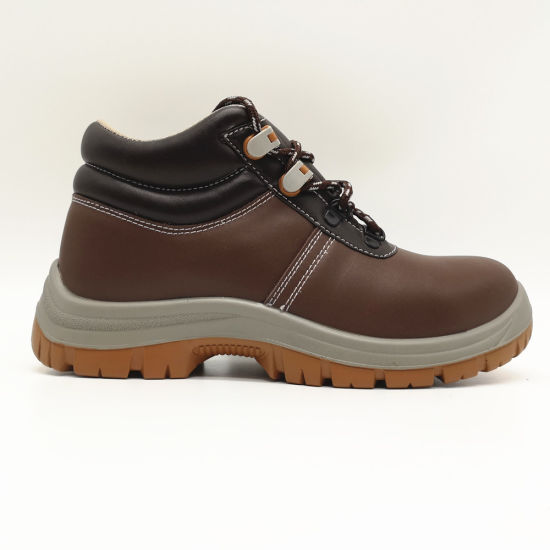S3 MID-Cut Action Smooth Leather Safety Shoe for Workers