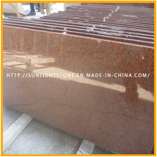 China Polishing Tianshan Red Granite Stair Floor Tiles For Kitchen