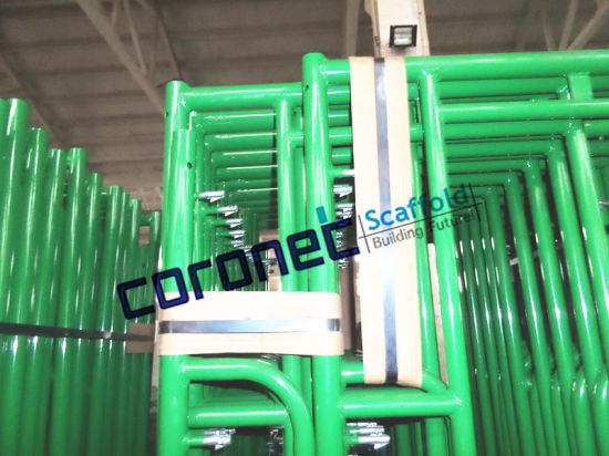 ANSI Building Material Construction High Quality Powder Coated Drop Lock Walk Thru Frame System Scaffold (CSWT564DL) pictures & photos