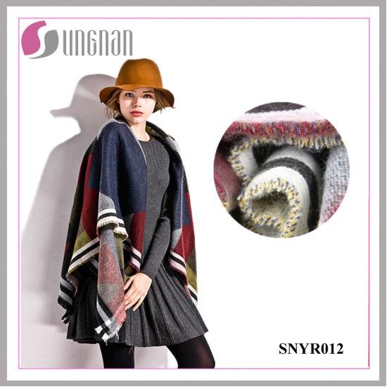 High Quality Colorful Geometric Ladies Elegant Imitate Cashmere Scarf