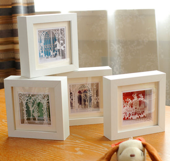 China Square White Solid Wood Photo Frames China 5 X 7 Inch