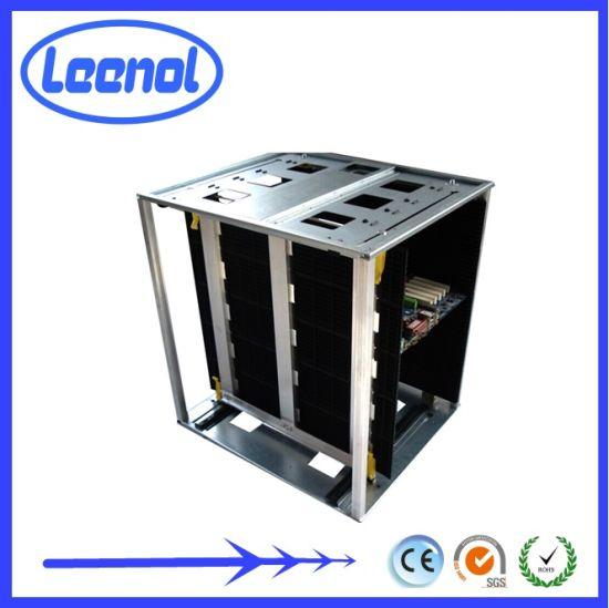 LN-D808 Anti Static High Temperature Resistance Adjustable ESD Magazine SMT Storage Holder PCB Rack
