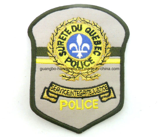 Embroidery Police Shoulder School Badge pictures & photos