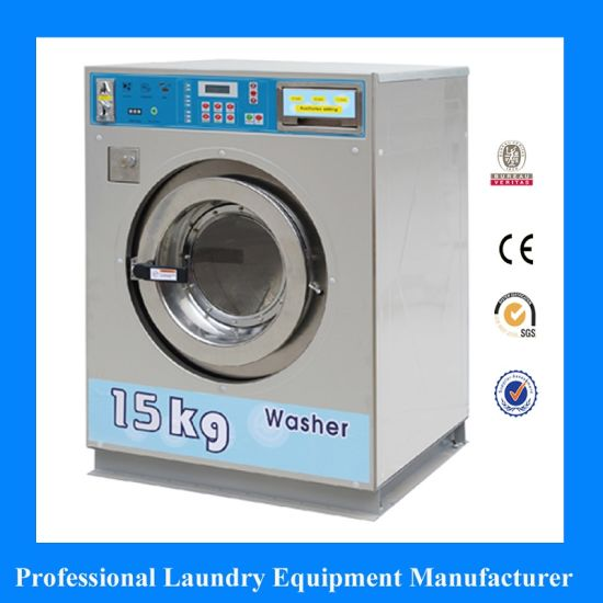 Fully Automatic Tokens Cards Coin Operated Washing Machine for Laundromat  Laundry Shop Coin Washer Dryer