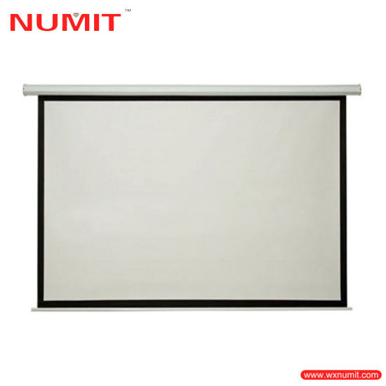 China electric motorized drop down projector screen with for Motorized drop down projector screen