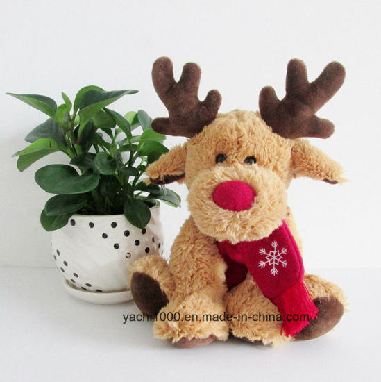 New Christmas Gift Toy Plush Cute Reindeer with Scarf
