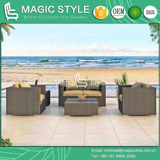 China High Quality Garden Outdoor Furniture Rattan Sofa Wicker Sofa