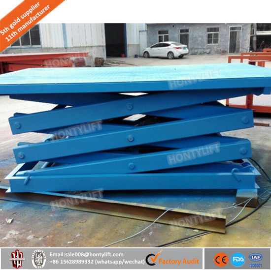 Reliable Stationary Hydraulic Scissor Lift with 1000kgs pictures & photos