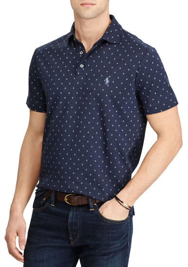 Classic Fit Soft-Touch Pock DOT Printing Polo Shirts Wholesale