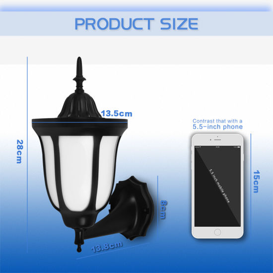 Support Customization and Source Manufacturer Outdoor New Solar Garden Flame Wall Light pictures & photos