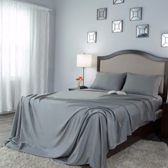 Full Twin Us Size Solid Color Bed Sheet