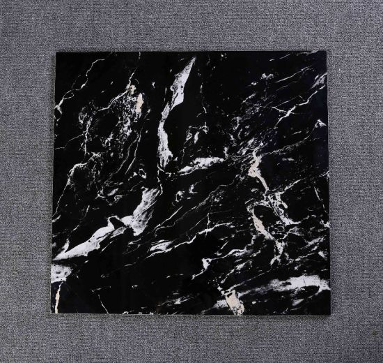 Black and White Marble Polished Glazed Porcelain Hotel Wall and Floor Tile