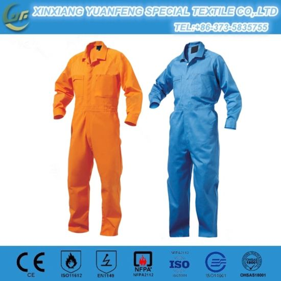 2017 OEM Male Anti Static Work Uniform Wear Fire-Fighting Protection Safety Coverall Set pictures & photos