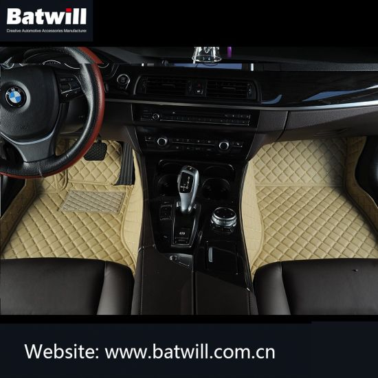 Hand Sewing PVC Leather Car Floor Mats for Indian Market