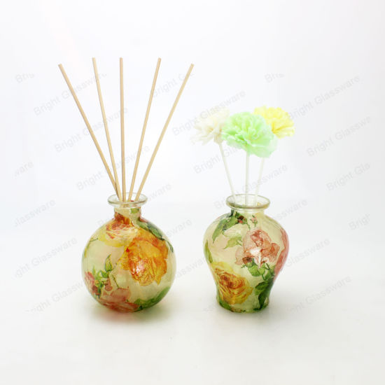 Fragrance Decal Design Reed Glass Diffuser Bottles Sola Wood Flower Home Decoration pictures & photos