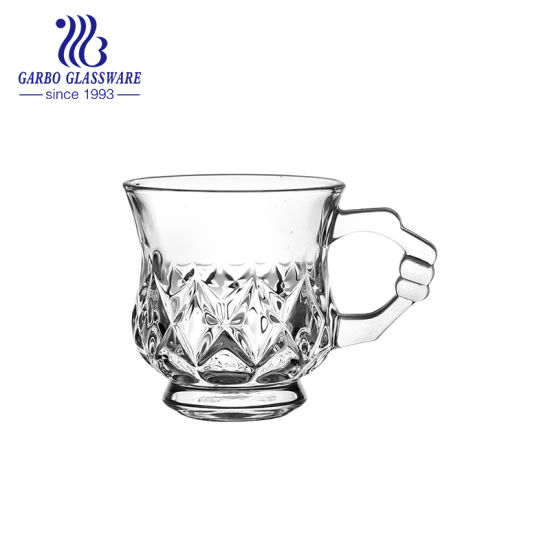 130ml High Quality Tea Glass Mug with Handle (GB090406ZS) pictures & photos
