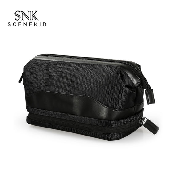 Waterproof Gym Train Travel Case Makeup Bag for Men, Eco Friendly Polyester Cosmetic Bag with Zipper