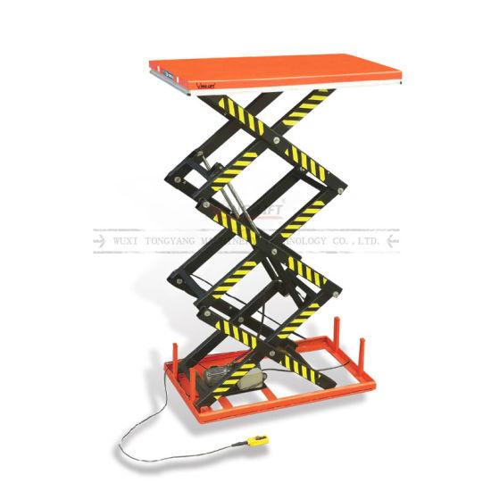 Stationary Three Scissor Electric Lift Table
