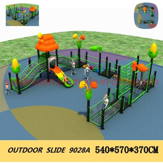 Customized Popular Kids Plastic Outdoor Playground Climbing Net Tube Slide for Amusement Park
