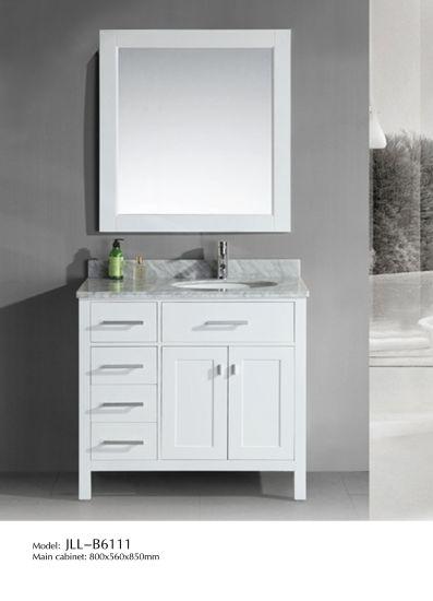 Double Sink Solid Wood Bathroom Vanity with Countertop