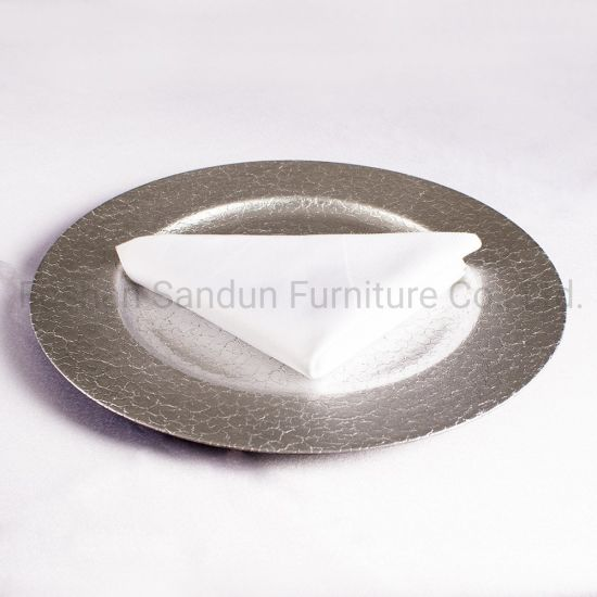 High End Wedding Event Party Glass Plastic Plate pictures & photos