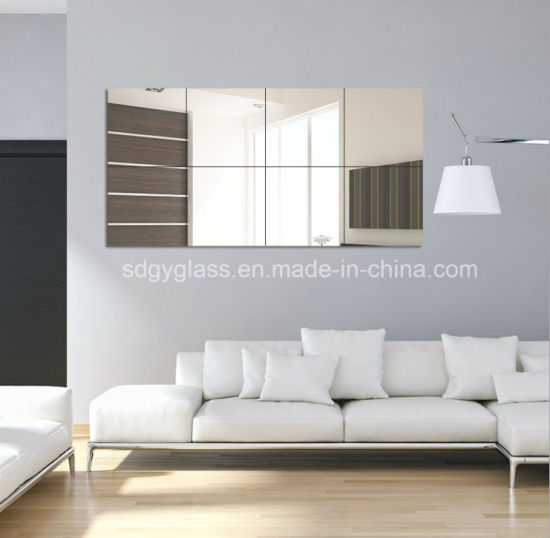 Safety Polished Kinds Shape Aluminum/Silver Wall Mirror Bathroom Decorative Furniture Mirror for Hotel and Living Room