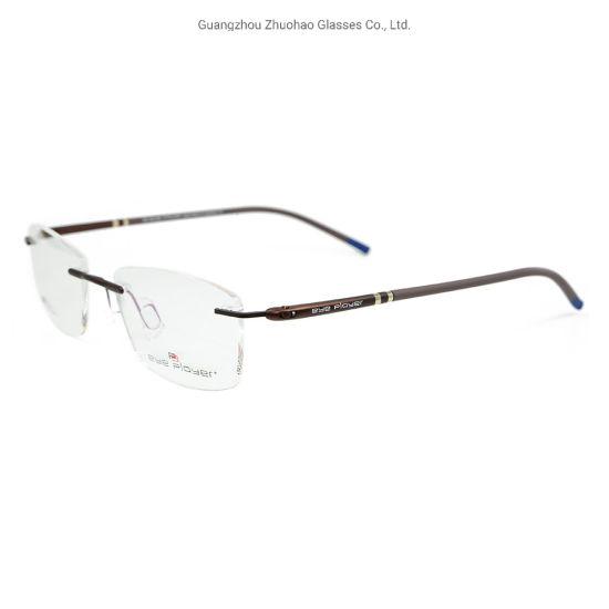 Best Colorful Eyewear Fashion High Quality Glasses Super Light Metal Rimless Optical Eyeglass Frames