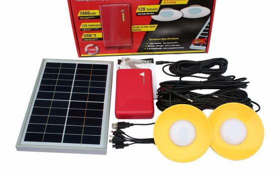 China Suppliers 6W Solar Power Panel Rechargeable Solar LED High Brightness Lamp Lantern Light Outdoor pictures & photos