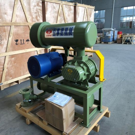 Professional Wrought Iron Three Lobe Roots Blower Bk6008 37kw with Pressure 10-80kpa for Areation and Transport Air. pictures & photos