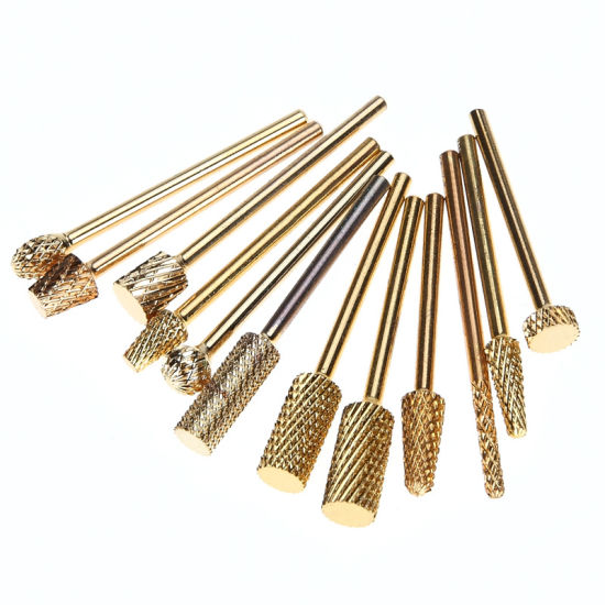 Gold Carbide Electric Burr Cutter Nail Drill Nail Art Tools pictures & photos