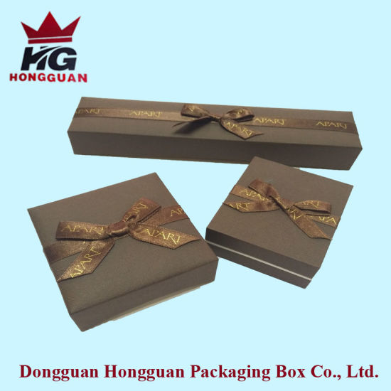 Classic Brown Paper Gift Box for Jewelry